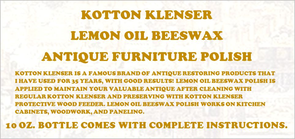 10 OUNCE LEMON OIL BEESWAX POLISH FOR PRESERVING WOOD AND METAL FINISHES