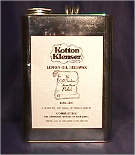 1 GALLON KOTTON KLENSER LEMON OIL BEESWAX POLISH FOR PRESERVING WOOD FINISHES